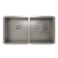 ProInox H0 50/50 Double Bowl undermount Kitchen Sink ProInox H0 18-gauge Stainless Steel, 30'' X 16'' X 8''