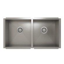 ProInox H0 50/50 Double Bowl undermount Kitchen Sink ProInox H0 18-gauge Stainless Steel, 30'' X 16'' X 8''