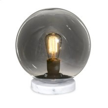 NK Hawking Glass and Marble Lamp