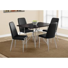 """DINING TABLE - 32""""X 48"""" / CAPPUCCINO / CHROME METAL"""