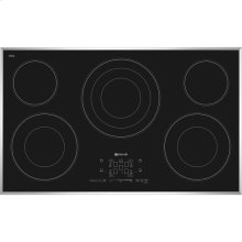 "Euro-Style 36"" Electric Radiant Cooktop with Glass-Touch Electronic Controls, Stainless Steel"