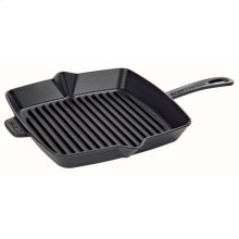 "Staub Cast Iron 12"" Square Grill Pan, Black Matte"