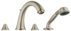 Kensington Four-Hole Roman Bathtub Faucet with Handshower Product Image