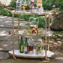 Arbor Bar Cart-Brass