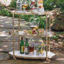 Arbor Bar Cart-Brass