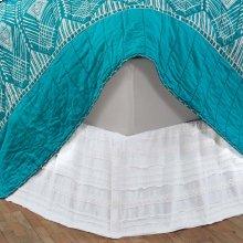 Jasmine White Twin Bed Skirt 39x76x16