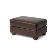 Newbury Leather Footstool in Chocolate Espresso