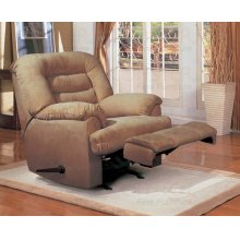 "ROCK RECLINER,BROWN/F 38-1/2""Lx36""Wx39""H"