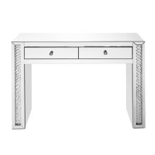 47 inch Rectangle Crystal Vanity Table in Clear Mirror Finish
