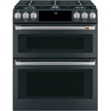 """Café 30"""" Smart Slide-In, Front-Control, Gas Double-Oven Range with Convection"""