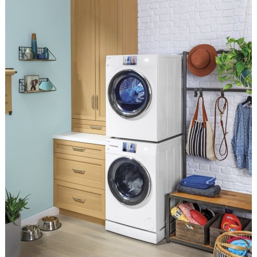 """4"""" ADA riser and drip pan 24"""" wide frontload washers and dryers"""