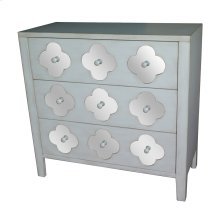 Hartley Soft White 3 Drawer with Mirror Pattern Chest