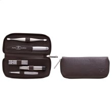 ZWILLING TWINOX 5-pc Leather Zip fastener case