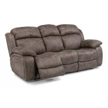 Como Fabric Power Reclining Sofa with Power Headrests