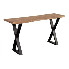 Manzanita Natural Acacia Console Table with Different Bases, VCA-CS58N