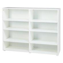 8 Shelf Bookcase : White