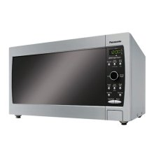 Compact Stainless Steel Microwave Oven