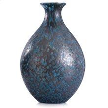 Modbury Blue  13in x 8in Elegant Artglass Vase