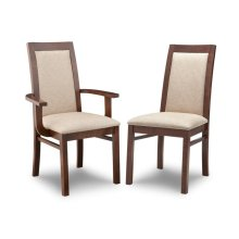 Brooklyn Padded Back Side Chair in Fabric