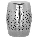 Silver Lattice Coin Garden Stool - Silver Product Image