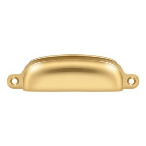 """Exposed Shell Pull 4"""" - PVD Polished Brass Product Image"""