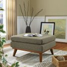 Engage Upholstered Fabric Ottoman in Oatmeal Product Image