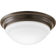 "One-Light 11"" LED Frosted Glass Flush Mount"