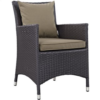 Convene Dining Outdoor Patio Armchair in Espresso Mocha