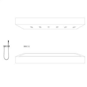 HORIZONTAL SHOWER with hand shower set - chrome Product Image