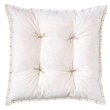 Talia Velvet Pillow, OYSTER, 20X20
