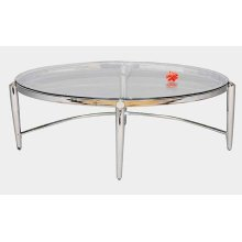 OVAL COFFEE TABLE CHROME
