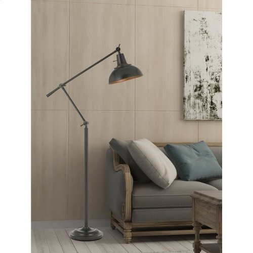 100W Eupen Metal Adjust able Floor Lamp With Metal Shade In Bronze Finish