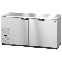 HBB-3-69-S, Refrigerator, Two Section, Stainless Steel Back Bar Back Bar, Solid Doors