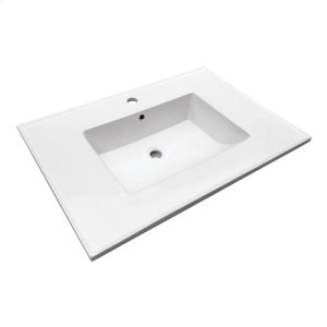 "Hartley 31"" Vanity Top - Single Hole Product Image"