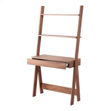 """Reeve 32"""" KD Stair Desk, Walnut (ASSEMBLY REQUIRED)"""