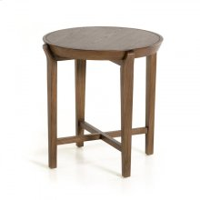 Modrest Olenna Modern Walnut Side Table