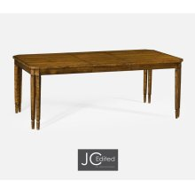 Rectangular Dining Table in Country Walnut