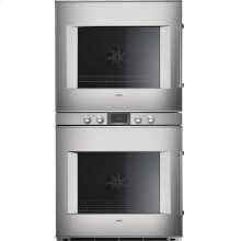 """400 series 400 series double oven Stainless steel-backed full glass door Width 30"""" (76 cm) Left-hinged Controls centered"""