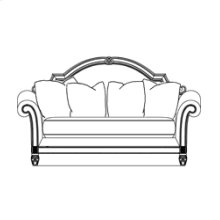 Leather/Fabric Wood Trim Loveseat