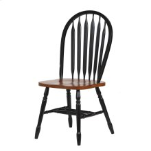 DLU-820-BCH-RTA-2  Arrowback Dining Chair  Antique Black and Cherry  Set of 2
