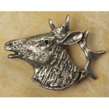 Elk Head Knob Facing Left