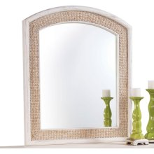 Cimarron Arched Seagrass Mirror