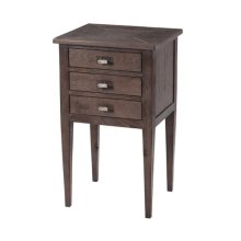 Nevis Nightstand, Dark Echo Oak