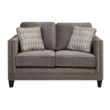 Loveseat With 2 Pillows - Grey