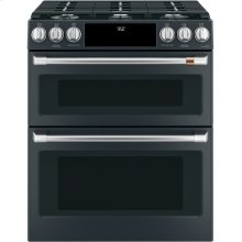 """Café 30"""" Smart Slide-In, Front-Control, Dual-Fuel, Double-Oven Range with Convection"""