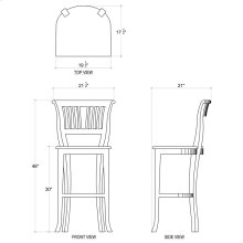 Manchester Barstool w/ Wooden Seat