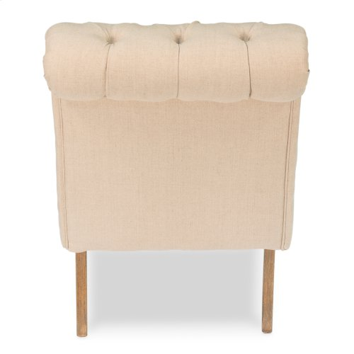 Tufted Boudoir Chair, Linen