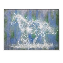Ghost Horse Oil on Canvas with Frame