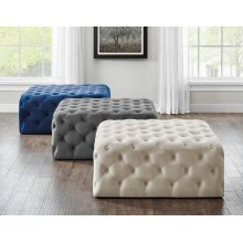 Belham Square Tufted Ottoman Charcoal 38'' x38''x17''H