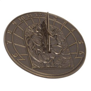 Small Hummingbird Sundial - French Bronze Product Image